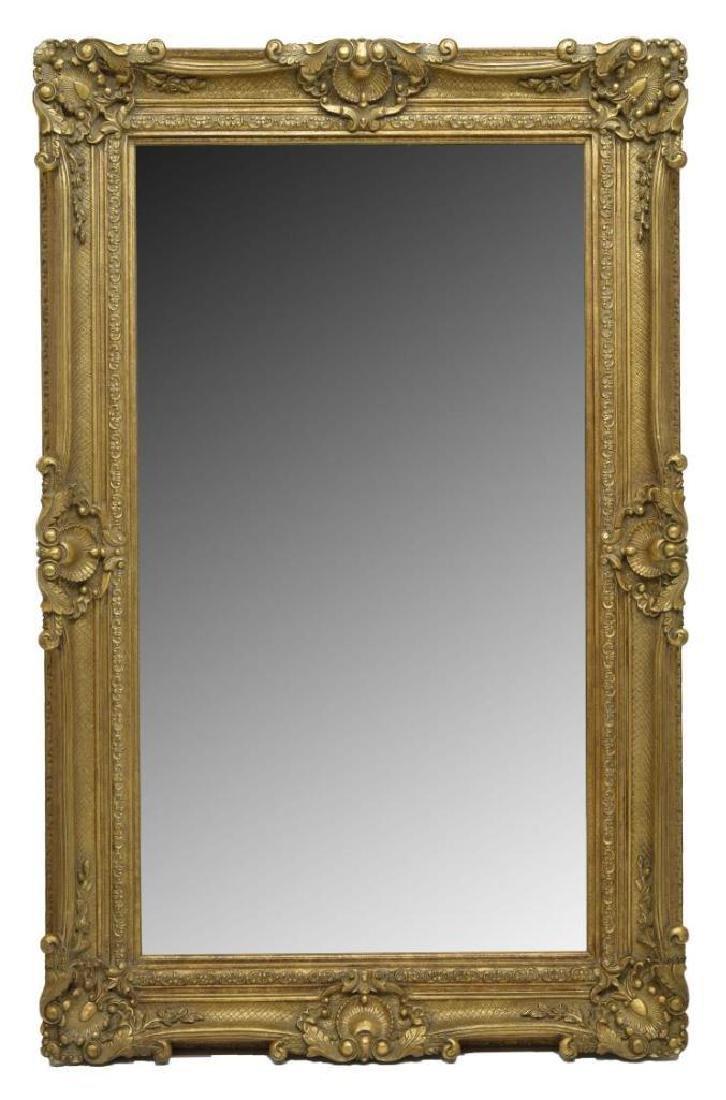 Monumental Victorian Style Gilt Frame Mirror
