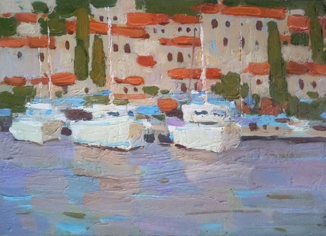 Yacht Seascape Impressionism Original Oil Painting