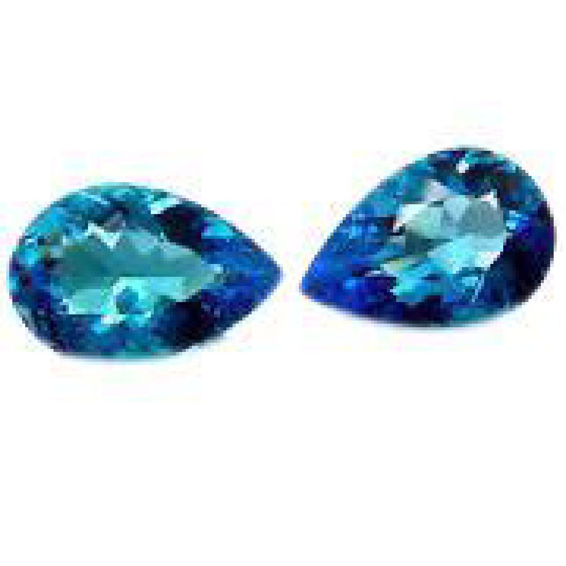 "Amazing & Rare 11ctw Matching - Blue ""Pear Cut"" BIANCO"