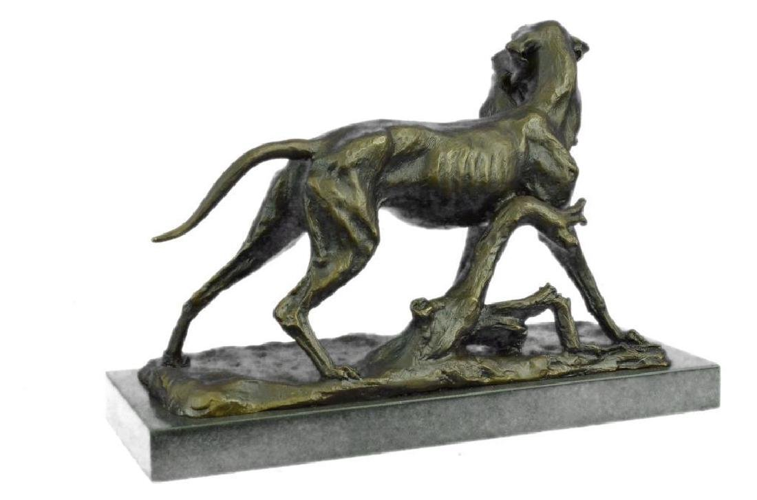 Hunting Dog with Rabbit Bronze Sculpture - 4