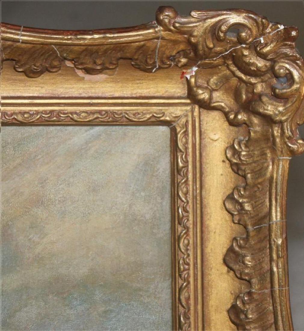Romantic Period Portrait Oil on Board - 3