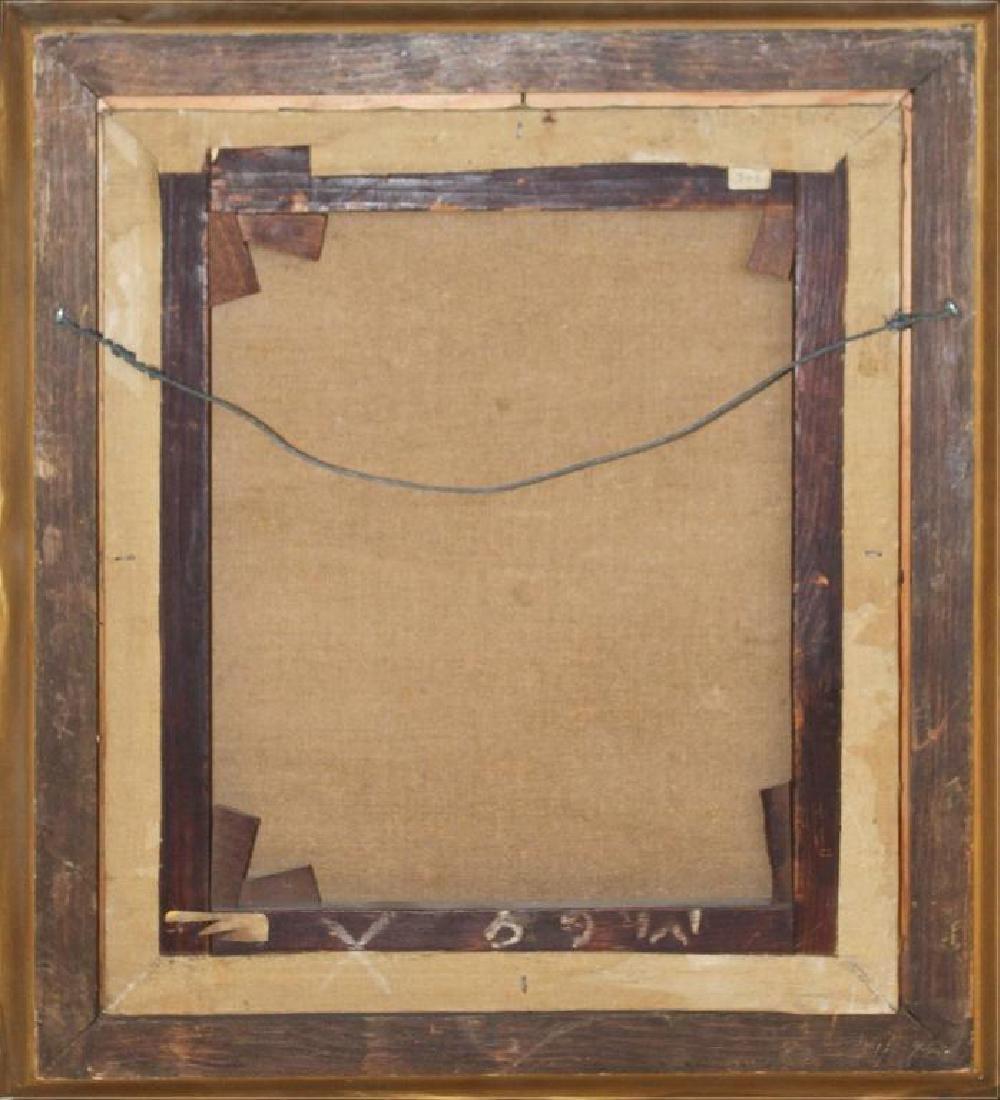 Romantic Period Portrait Oil on Board - 6