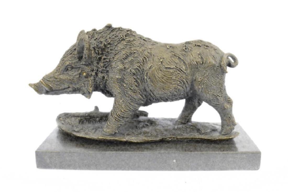Art Deco Hot Cast Wild Pig Boar Farm Bronze Animal