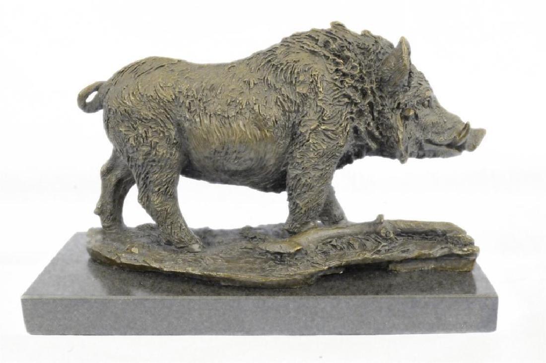 Art Deco Hot Cast Wild Pig Boar Farm Bronze Animal - 2