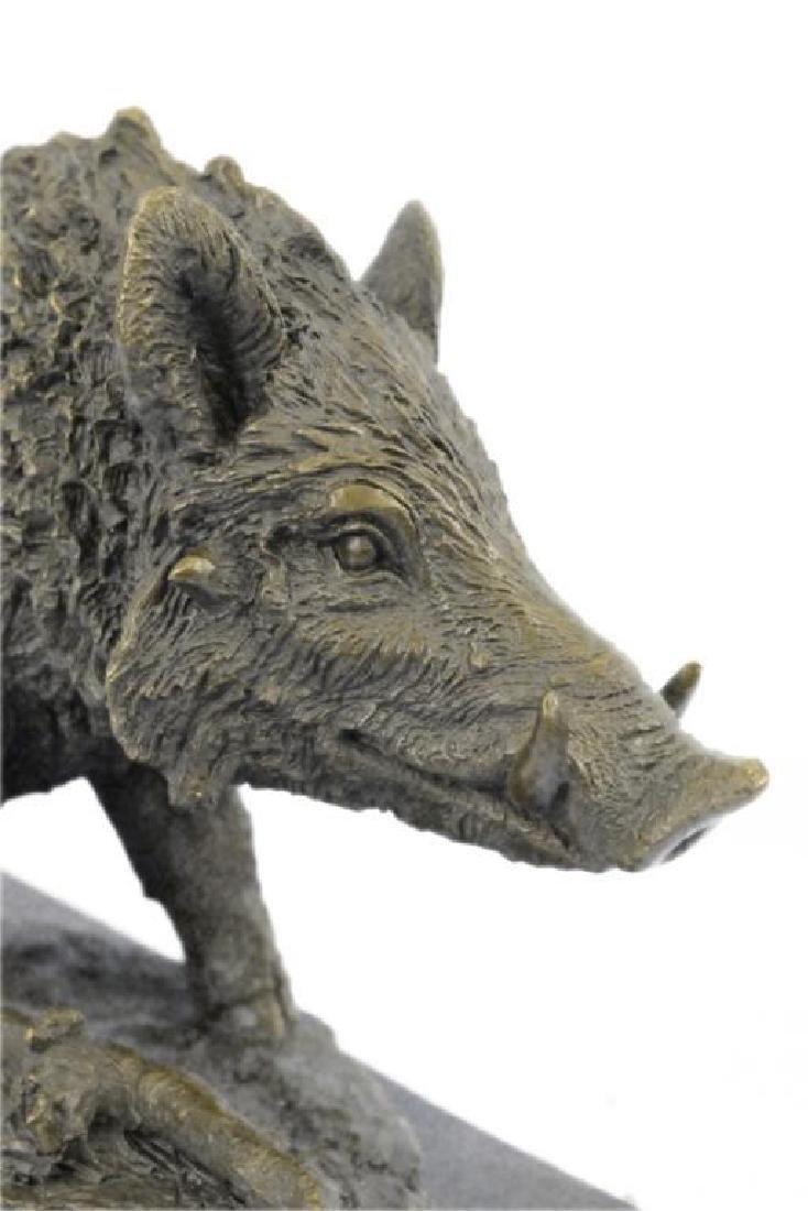 Art Deco Hot Cast Wild Pig Boar Farm Bronze Animal - 6