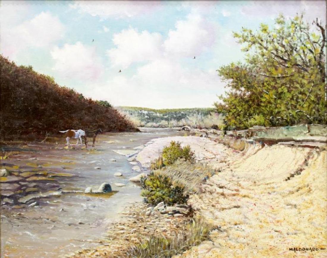 Daniel Maldonado (Texas) Horses & Texas River