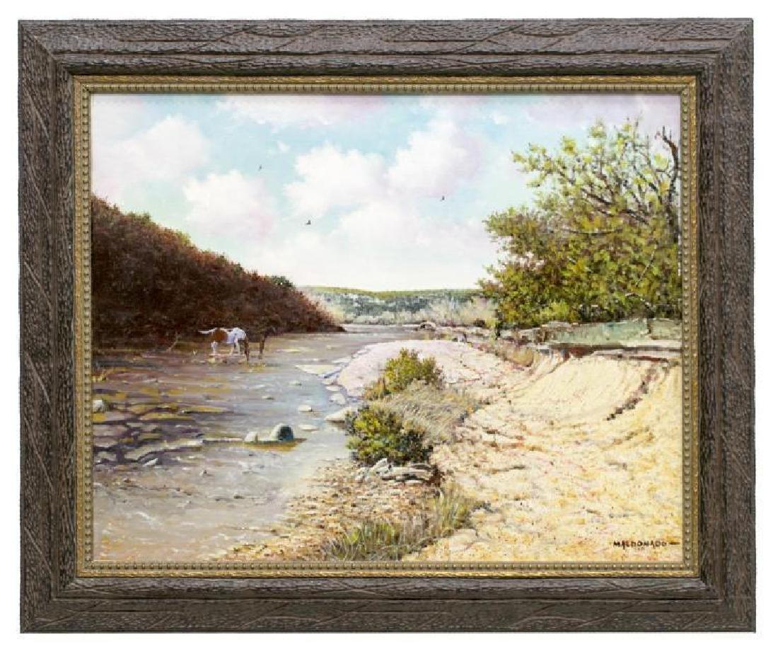 Daniel Maldonado (Texas) Horses & Texas River - 2
