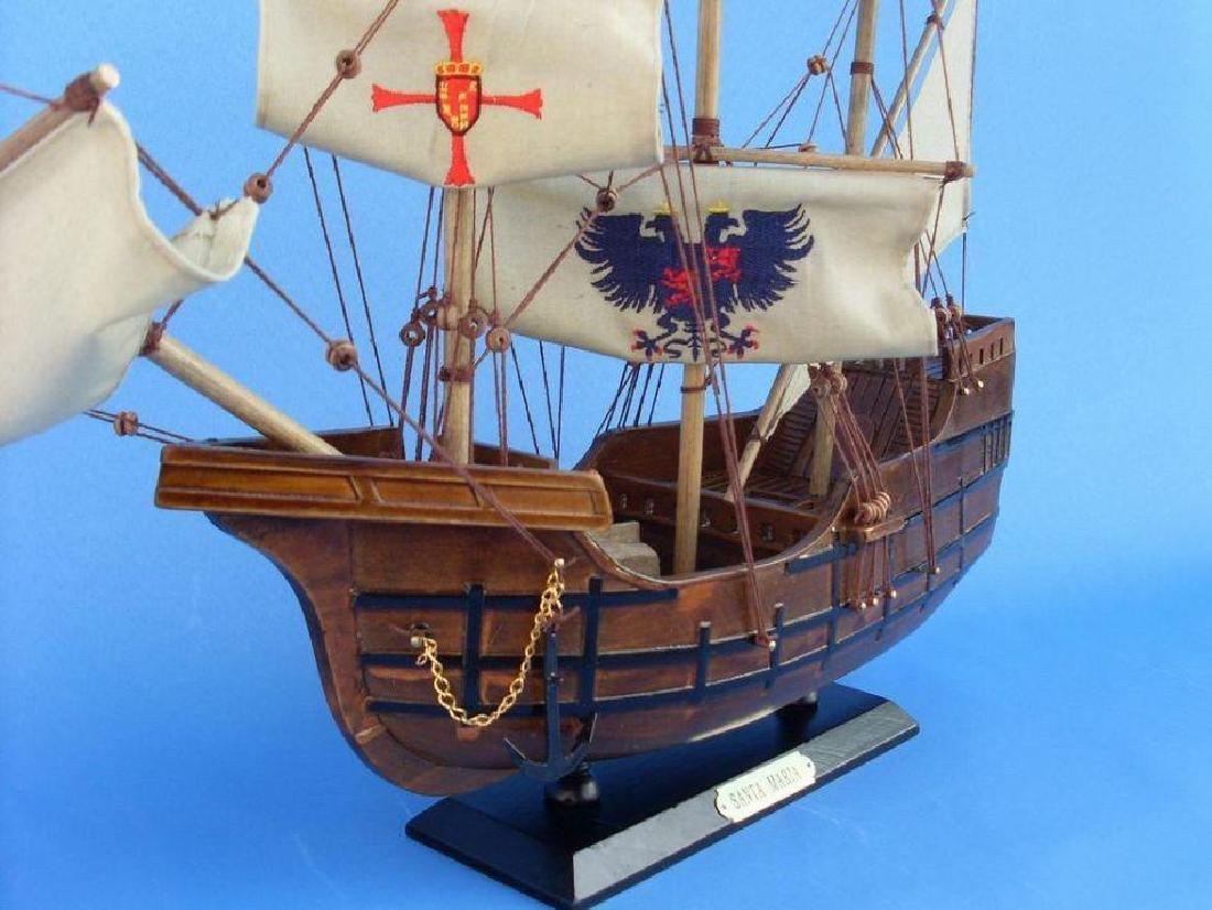 Wooden Model Ship, Columbus, Santa Maria - 2