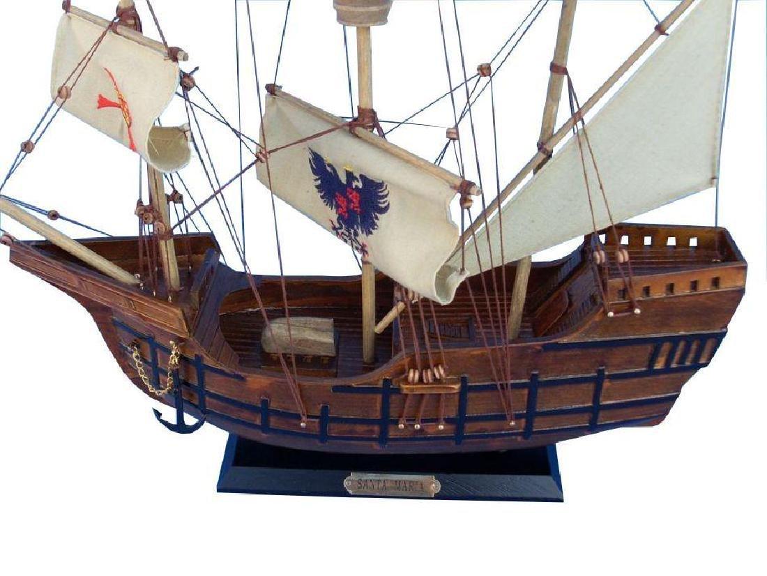 Wooden Model Ship, Columbus, Santa Maria - 3