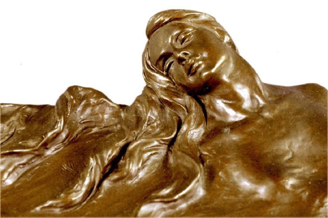 MERMAIDS Statue Jewelry Tray Bronze UNIQUE ART DECO - 3