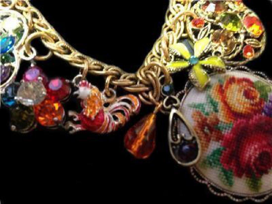 Vintage Multi Charm Bermuda Art Bracelet - 3