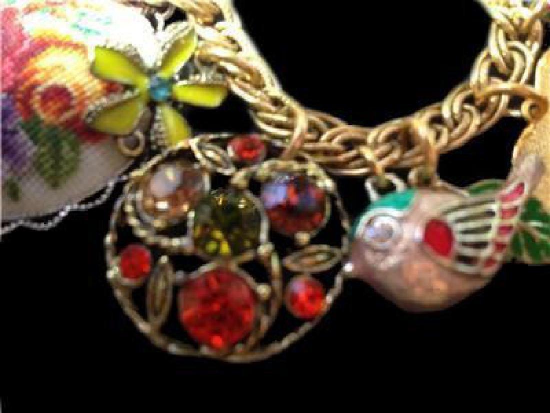 Vintage Multi Charm Bermuda Art Bracelet - 4