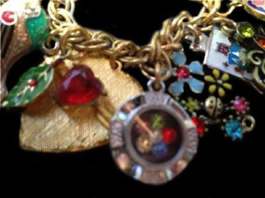 Vintage Multi Charm Bermuda Art Bracelet - 5