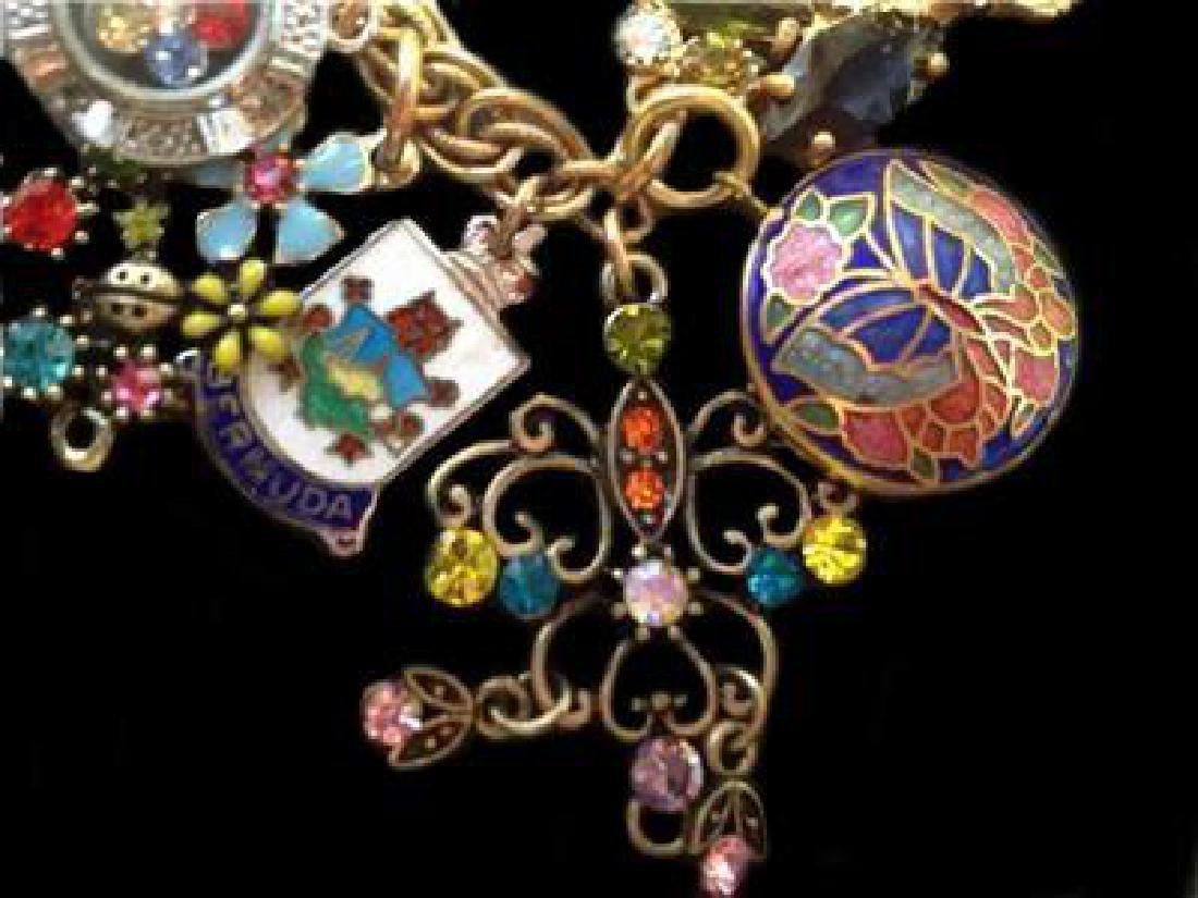 Vintage Multi Charm Bermuda Art Bracelet - 6