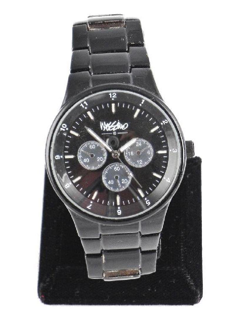 Vintage Men's Mossimo Stainless Black Wristwatch