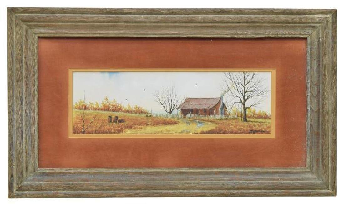 Daniel Maldonado (Texas) Framed Watercolor Painting - 2