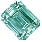 3.51 Ct Vvs1/White Blue Color Loose Emerald Square