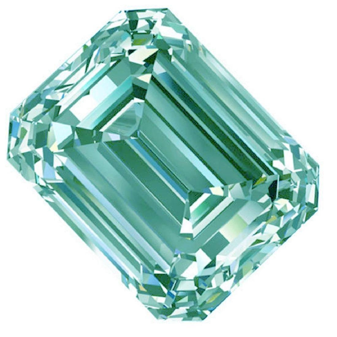 3.51 Ct Vvs1/White Blue Color Loose Emerald Square