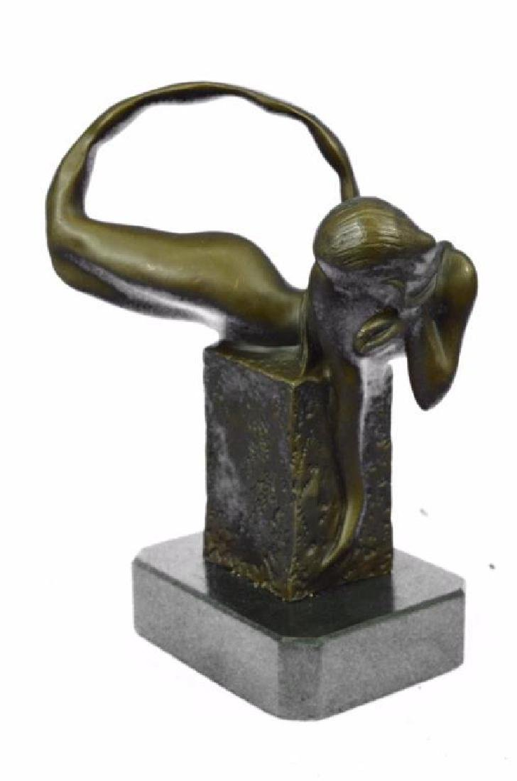 Art Deco Mermaid Bronze Sculpture - 2