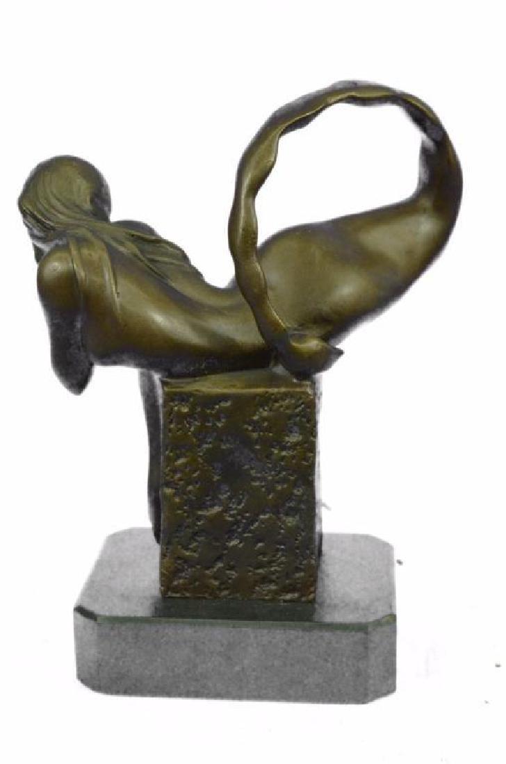 Art Deco Mermaid Bronze Sculpture - 4