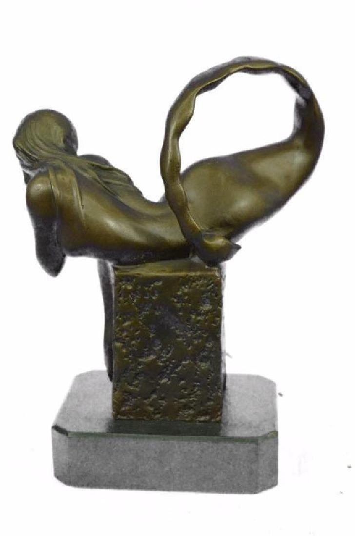 Art Deco Mermaid Bronze Sculpture - 4