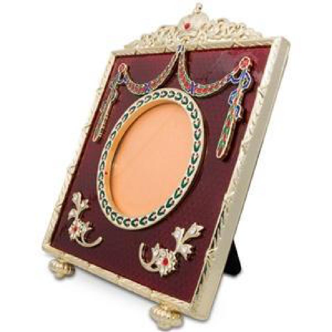 """5"""" Faberge Square Red Enameled Guilloche Russian"""