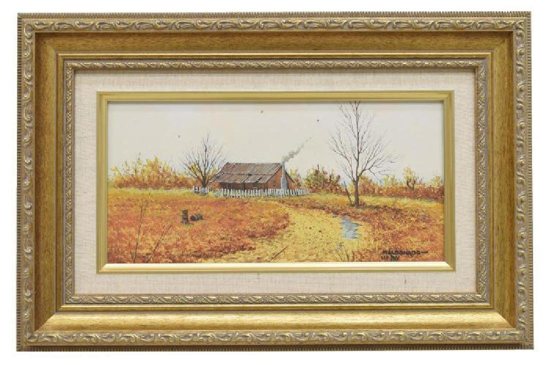 Daniel Maldonado (Texas) Fall Homestead Watercolor