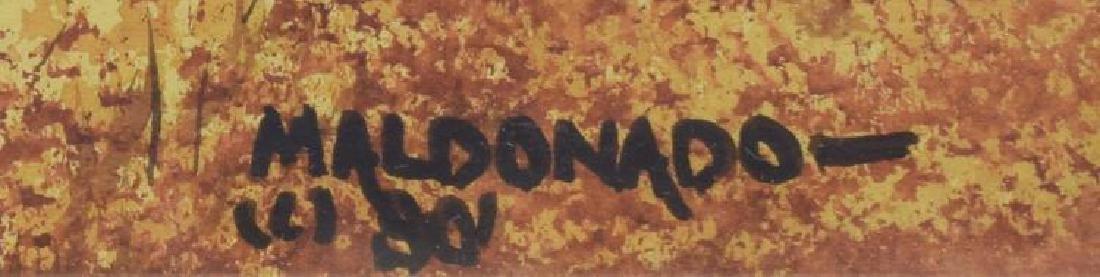 Daniel Maldonado (Texas) Fall Homestead Watercolor - 2