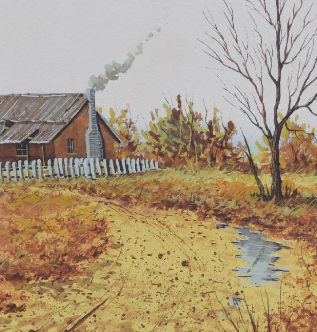 Daniel Maldonado (Texas) Fall Homestead Watercolor - 3