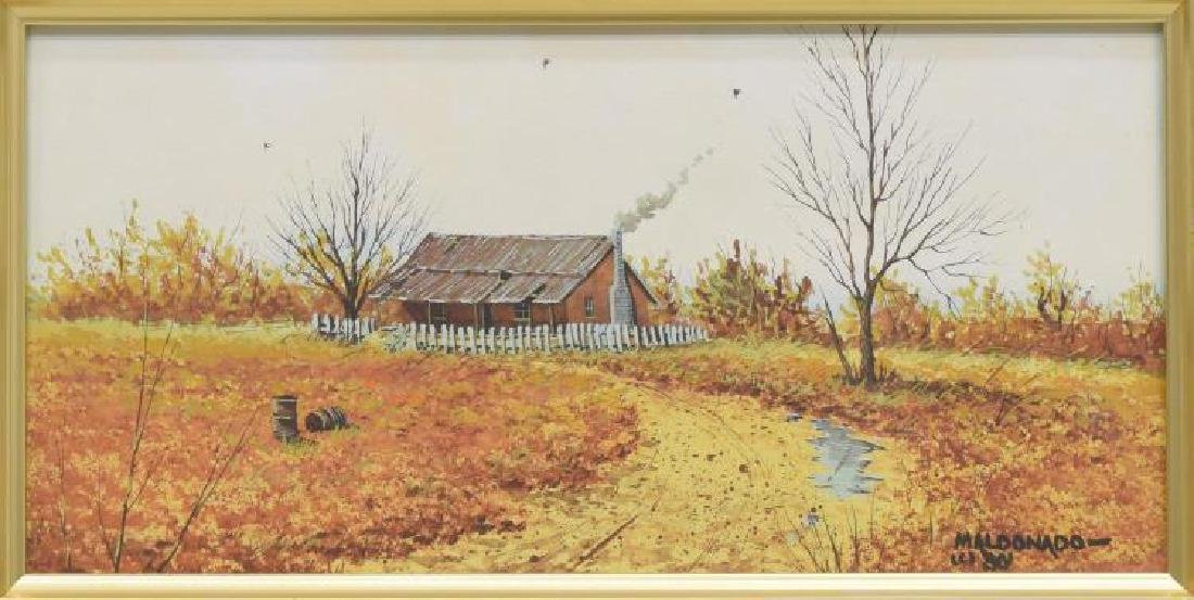 Daniel Maldonado (Texas) Fall Homestead Watercolor - 4