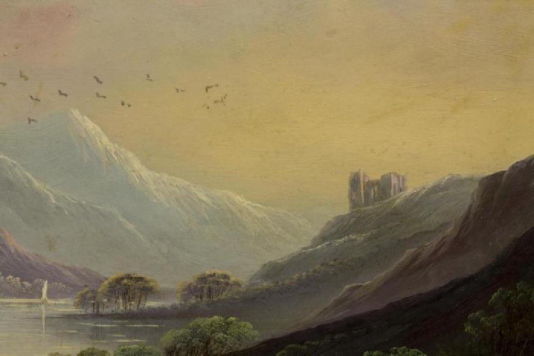 Framed Oil On Board Painting, Mountain Landscape - 3