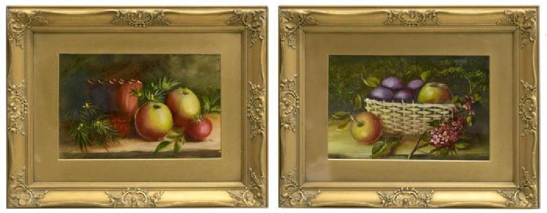 (2) Framed Still Life Oil Paintings