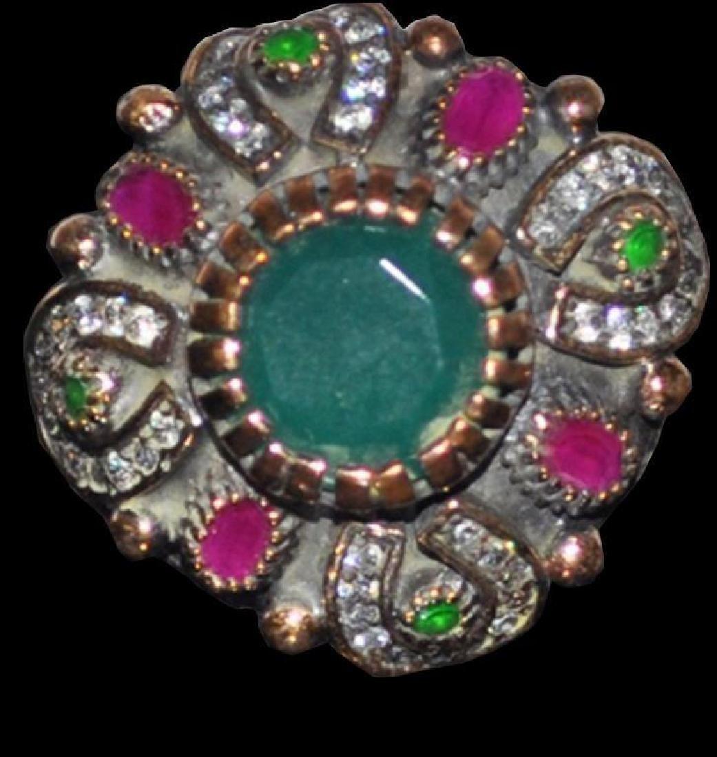 Emerald & Ruby Turkish Statement Ring