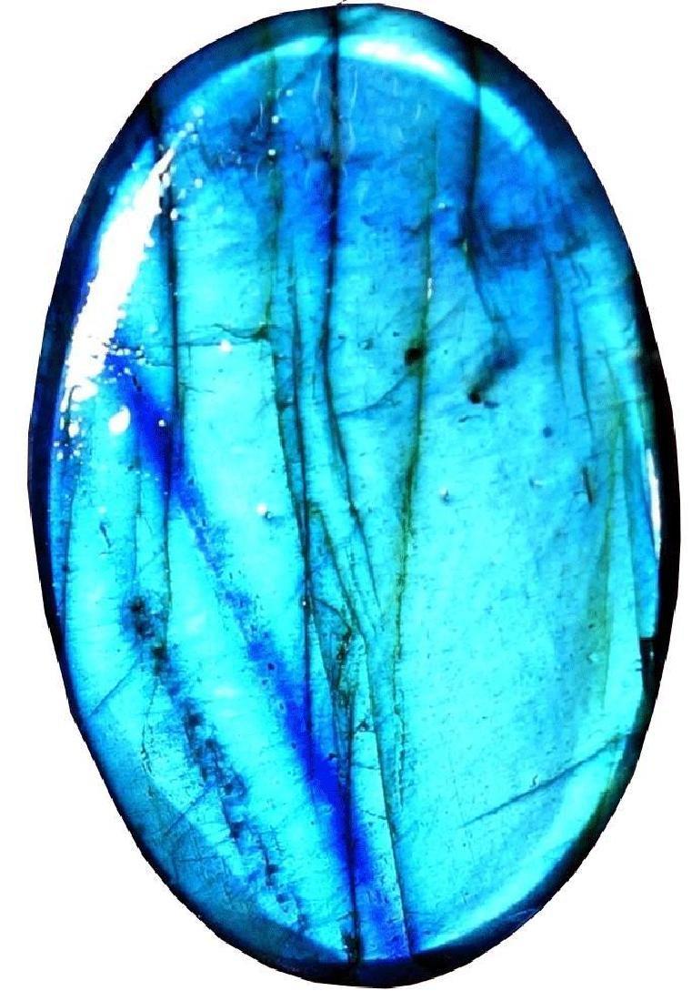 38.45Cts. Natural Blue Labradorite  Gemstone Oval - 2