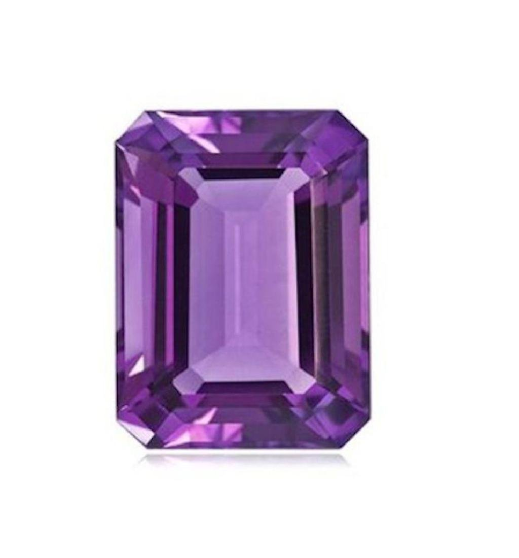 5.05cts Natural Brazilian Octagon Cut Amethyst AAA