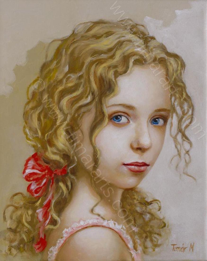 """Fabulour Monika TimarOriginal OIL PAINTING - """"Eva"""" -"""