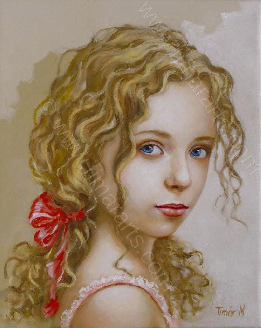 "Fabulour Monika TimarOriginal OIL PAINTING - ""Eva"" -"
