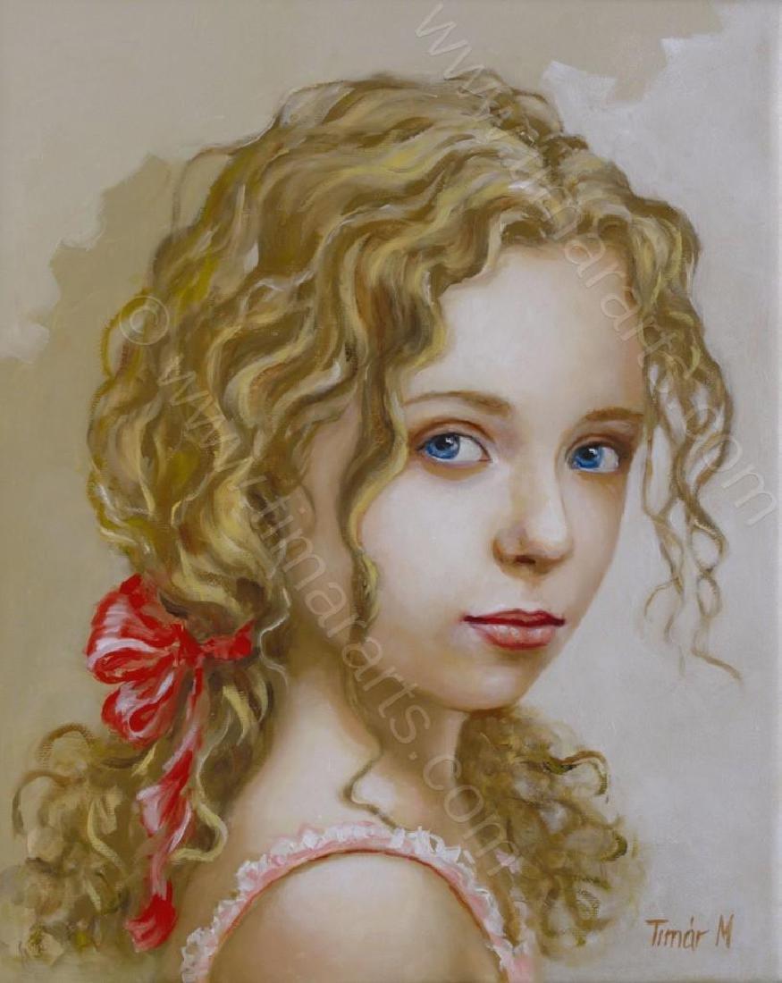 """Fabulour Monika TimarOriginal OIL PAINTING - """"Eva"""" - - 2"""