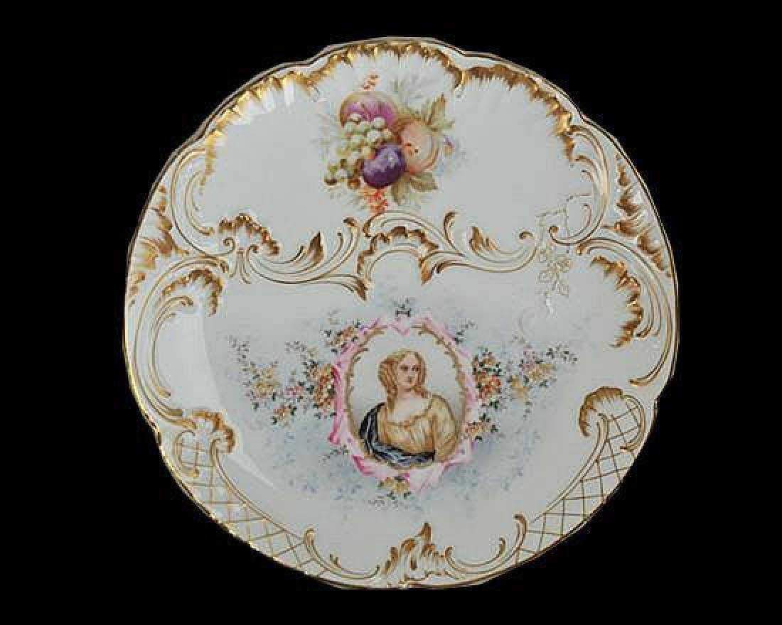 19thc C.T. Germany Royal Portrait Plate