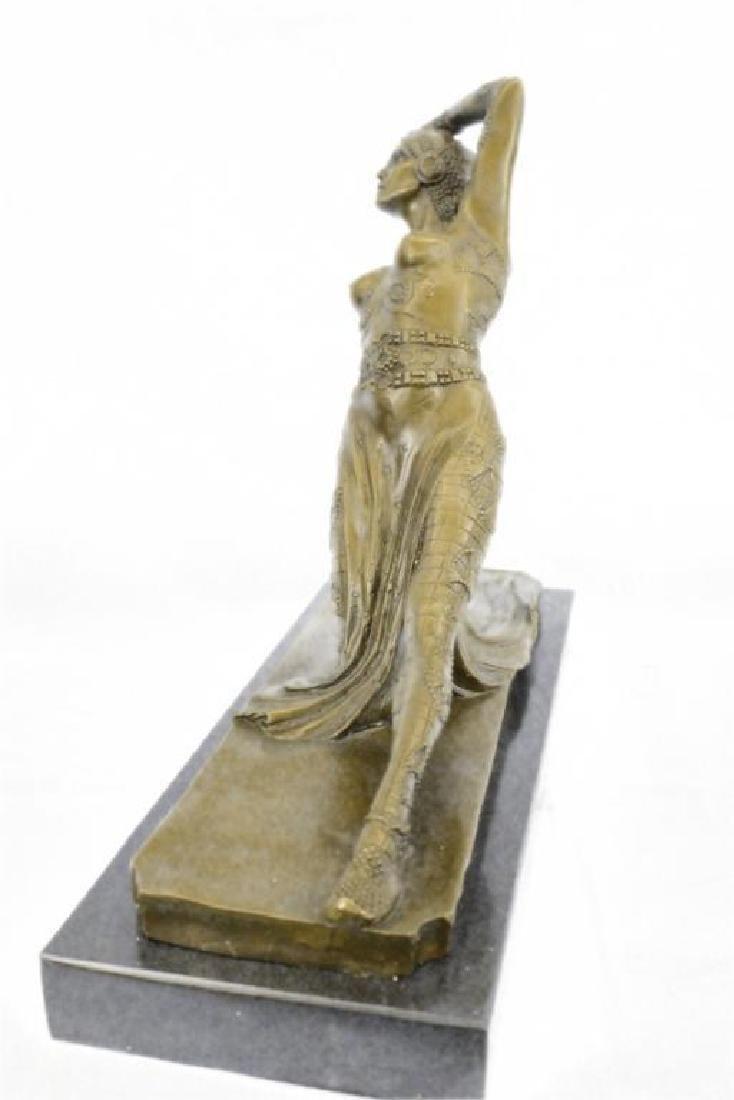 Art Deco Show Girl Dancer Bronze Sculpture Figurine - 5
