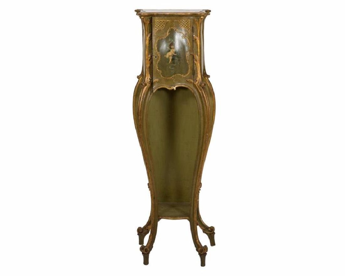 French Painted Pedestal Cabinet