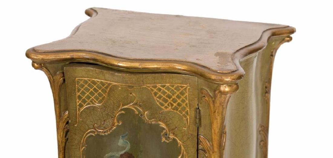 French Painted Pedestal Cabinet - 3