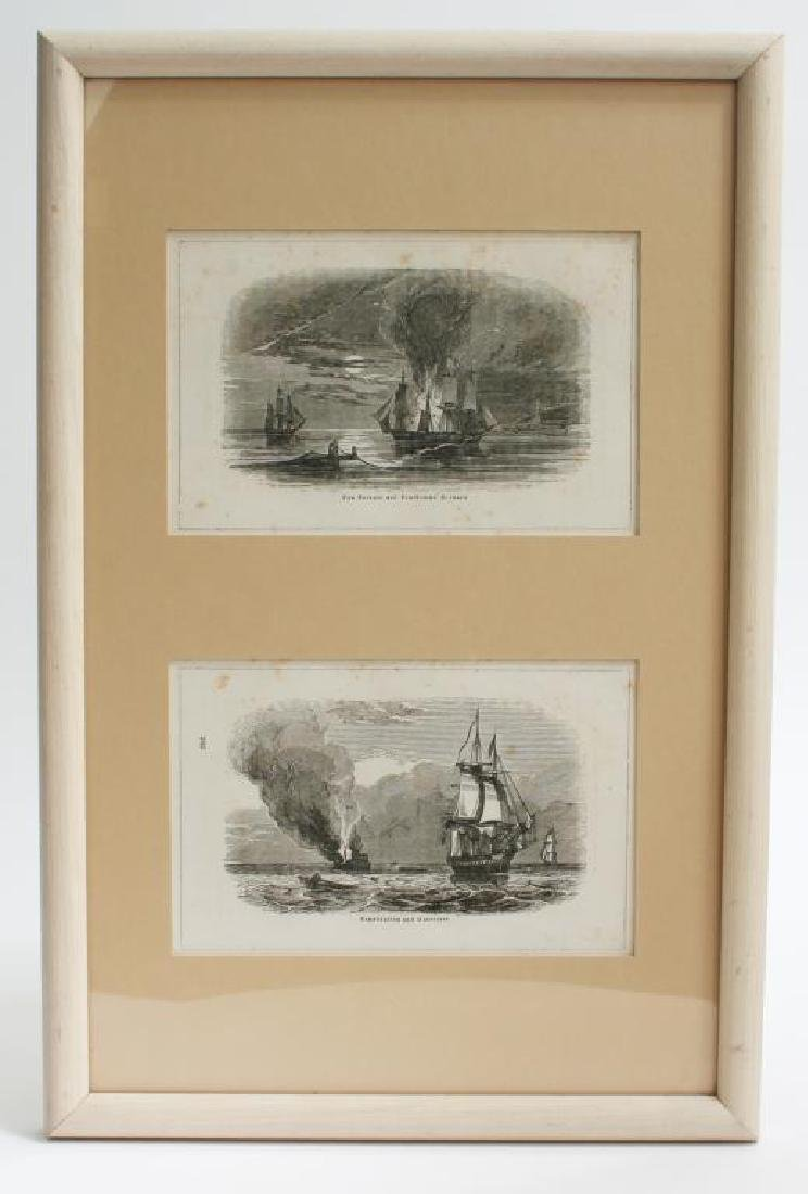 19thc Bon Homme Richard, Constitution Ship Prints