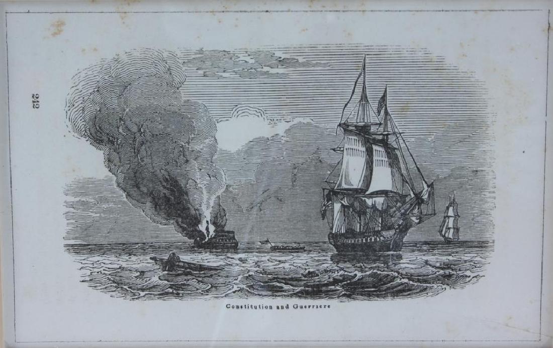 19thc Bon Homme Richard, Constitution Ship Prints - 2