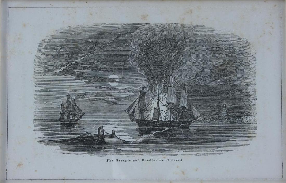19thc Bon Homme Richard, Constitution Ship Prints - 3