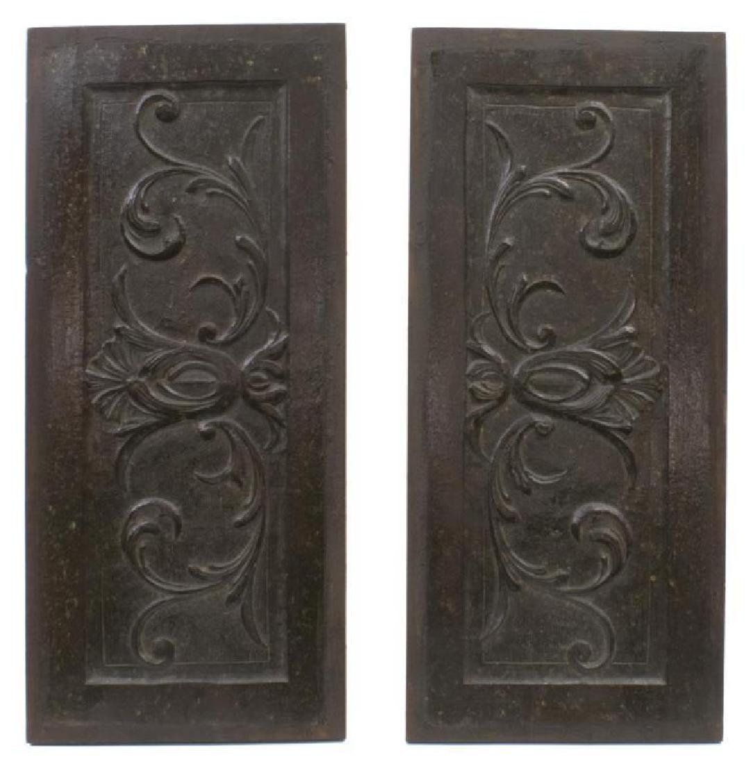 (4) Italian Carved Wood Architectural Panels - 2