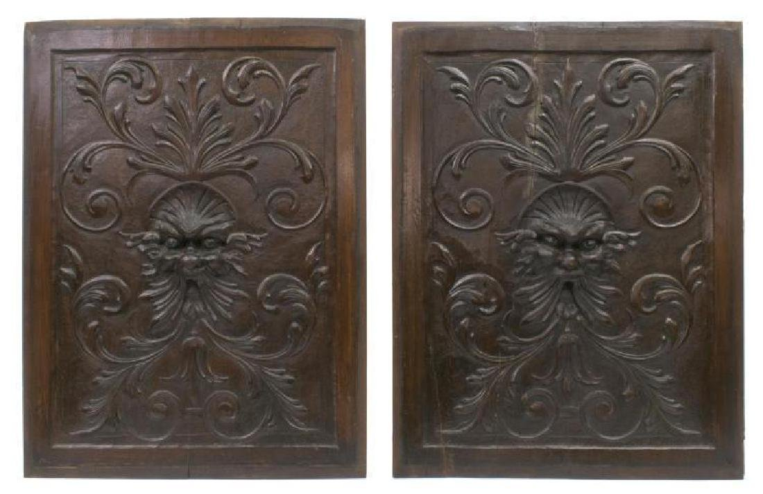 (4) Italian Carved Wood Architectural Panels - 3