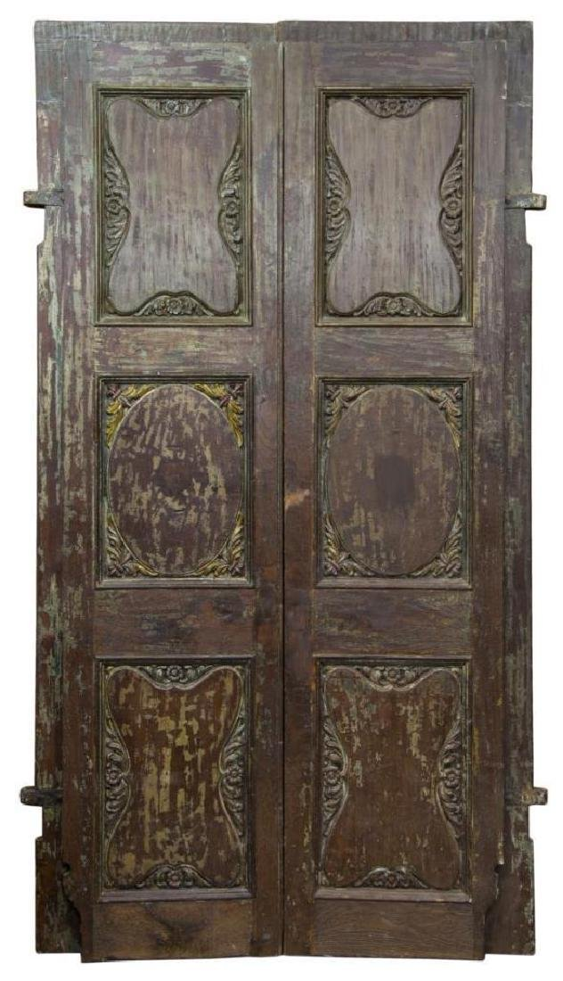 Architectural Highly Carved Foliate Doors