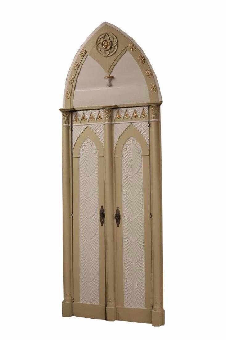 (2) Italian Gothic Revival Architectural Doors - 4