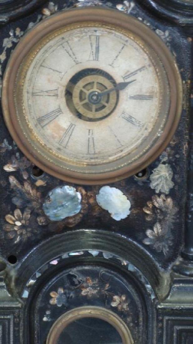 Exquisite 19thc Cast Iron Ansonia Mantel Clock - 3